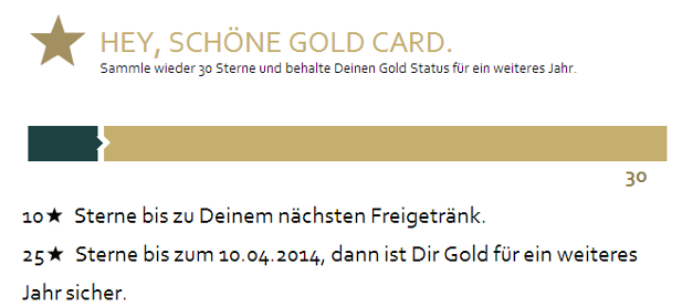 Starbucks Gold Level