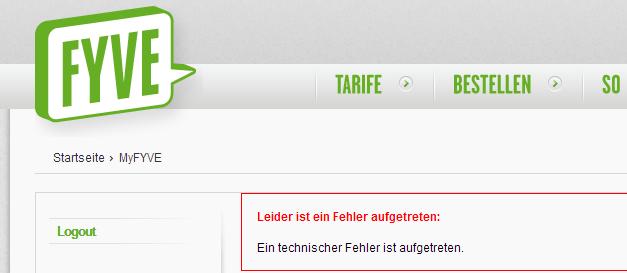 FYVE Kundenservice #epicfail