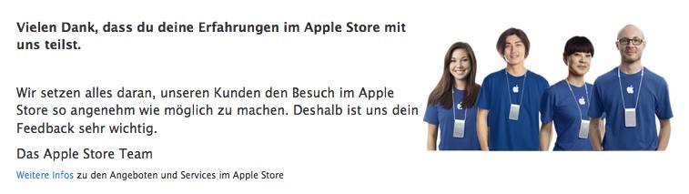 Danke - nein Apple, so nicht